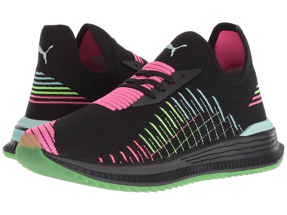PUMA Avid Evoknit Multi (Puma Black/Knockout Pink/Island Paradise) Women's Shoes