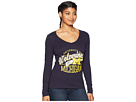 Champion College Michigan Wolverines Long Sleeve V-Neck Tee