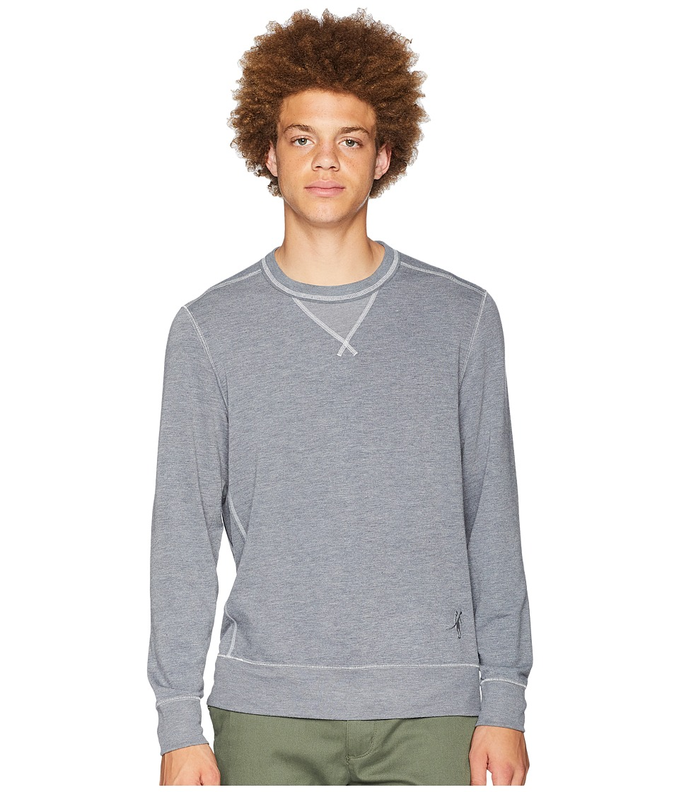 Toes on the Nose Growler Long Sleeve Crew Pullover (Dark Heather Grey) Men