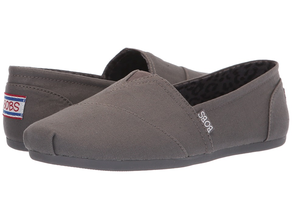 BOBS from SKECHERS Bobs Plush - Peace and Love (Dark Gray) Women's Shoes