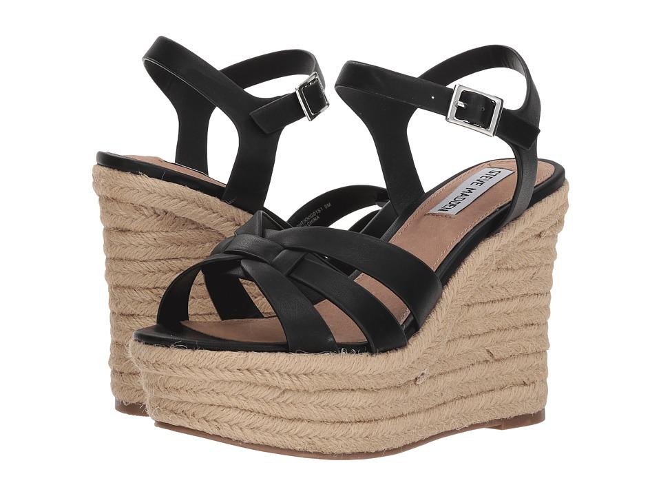 Steve Madden Knight Espadrille Wedge Sandal (Black) Wedges
