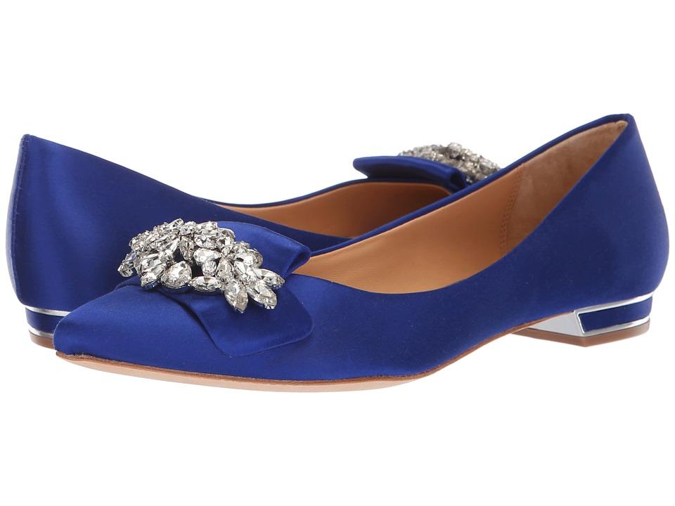 Badgley Mischka Valeria (Cobalt Blue Satin) High Heels