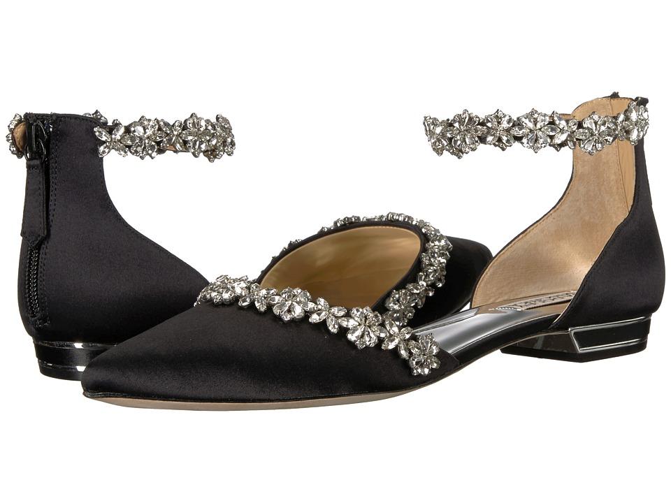 Badgley Mischka Vivien (Black Satin) High Heels