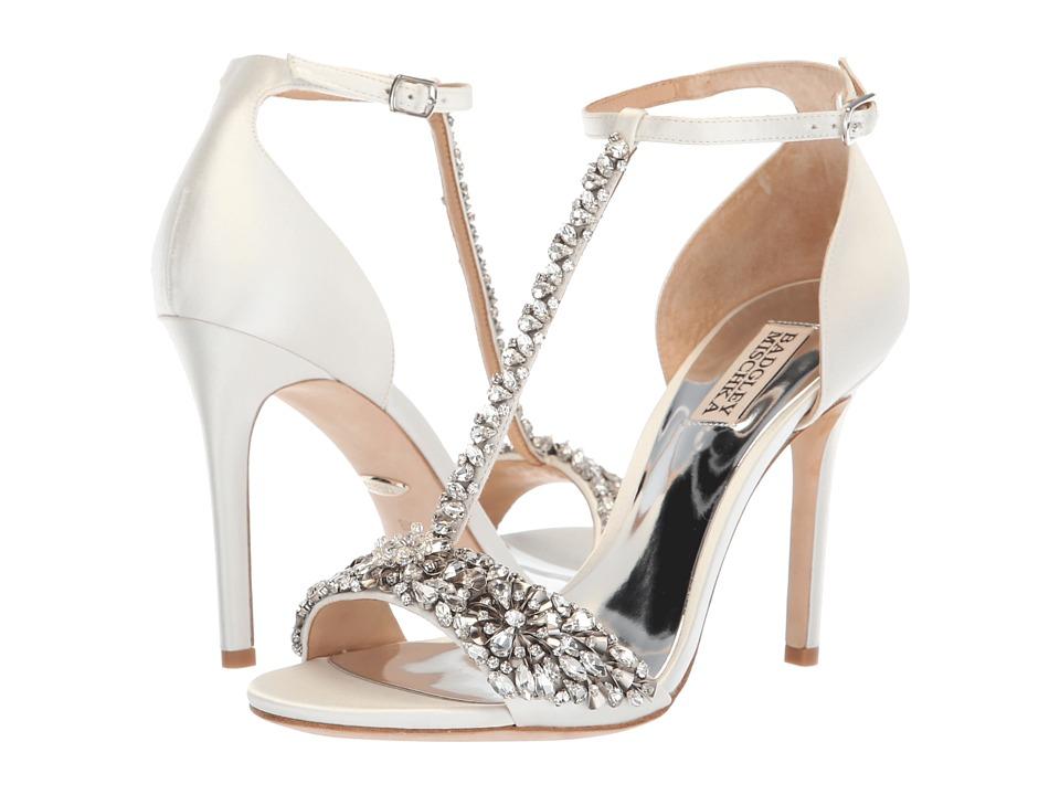 Badgley Mischka Veil (Soft White Satin) High Heels