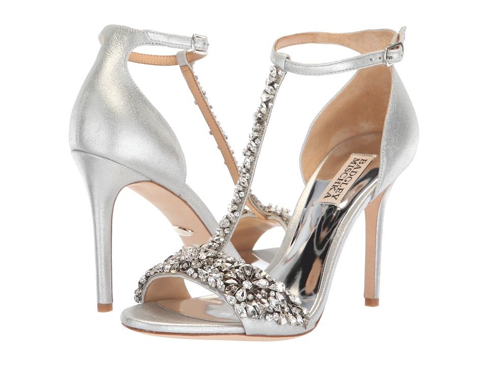 Badgley Mischka Veil II (Silver Metallic Suede) High Heels