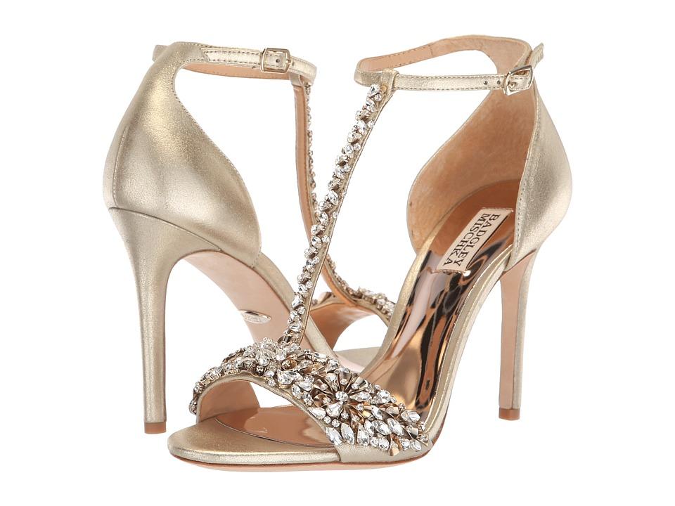 Badgley Mischka Veil II (Platino Metallic Suede) High Heels