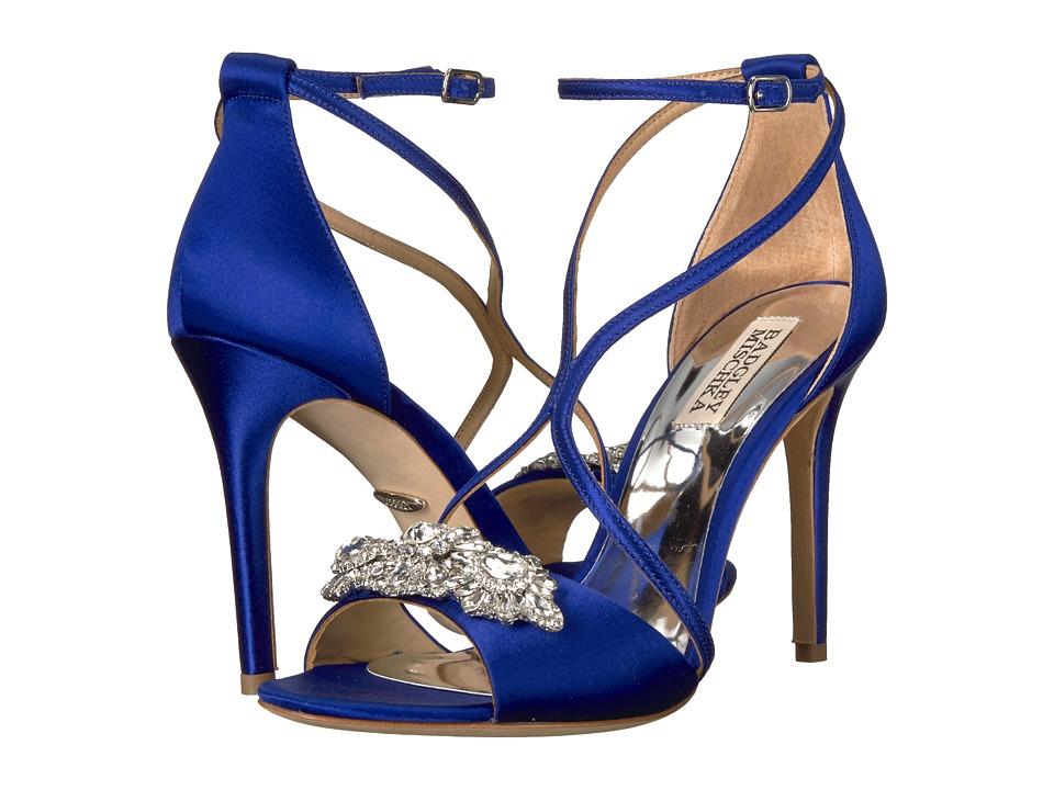 Badgley Mischka Vanessa (Cobalt Blue Satin) High Heels