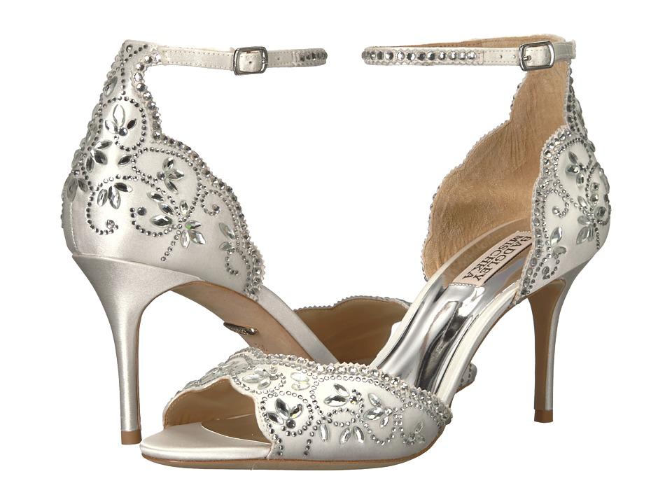 Badgley Mischka Veta (Soft White Satin) High Heels