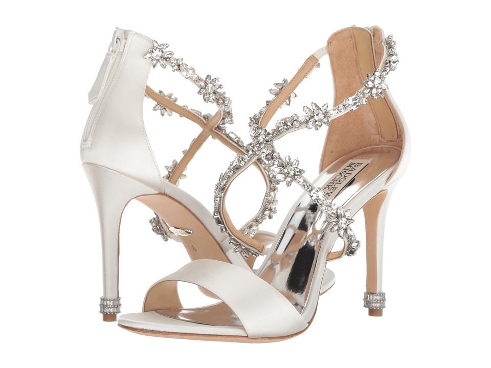 Badgley Mischka Venus (Soft White Satin) High Heels
