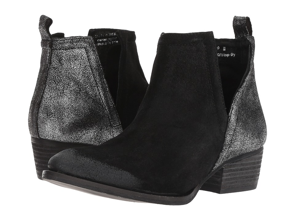 Diba True Stop By (Black/Pewter Suede/Leather)