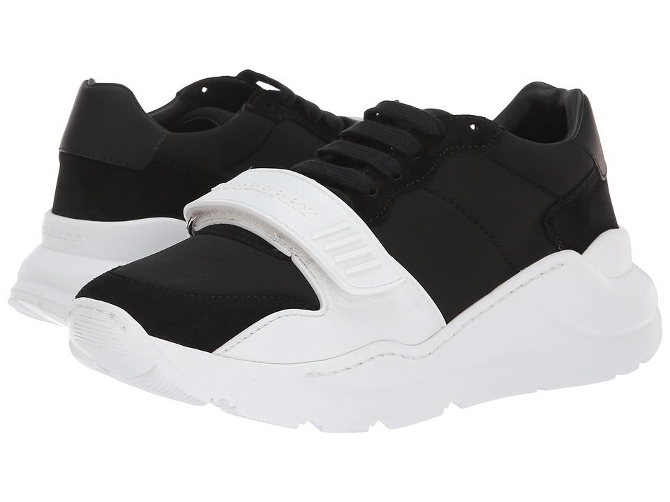 Burberry Regis Low (Black/Optic White) Women's Shoes