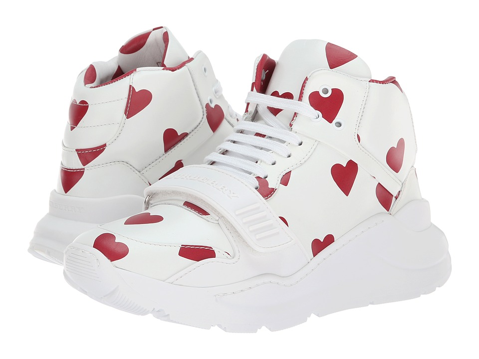 Burberry Regis High (Winds Red/Optic White) Women's Shoes