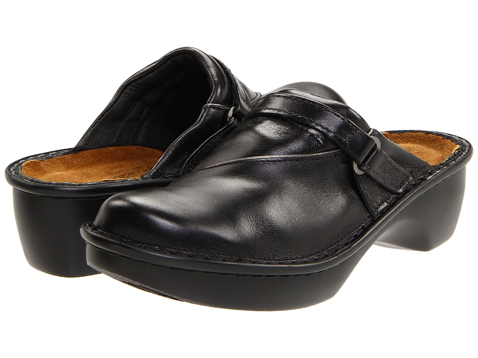 Naot Footwear Florence (Black Midnight Leather) Women's Clogs