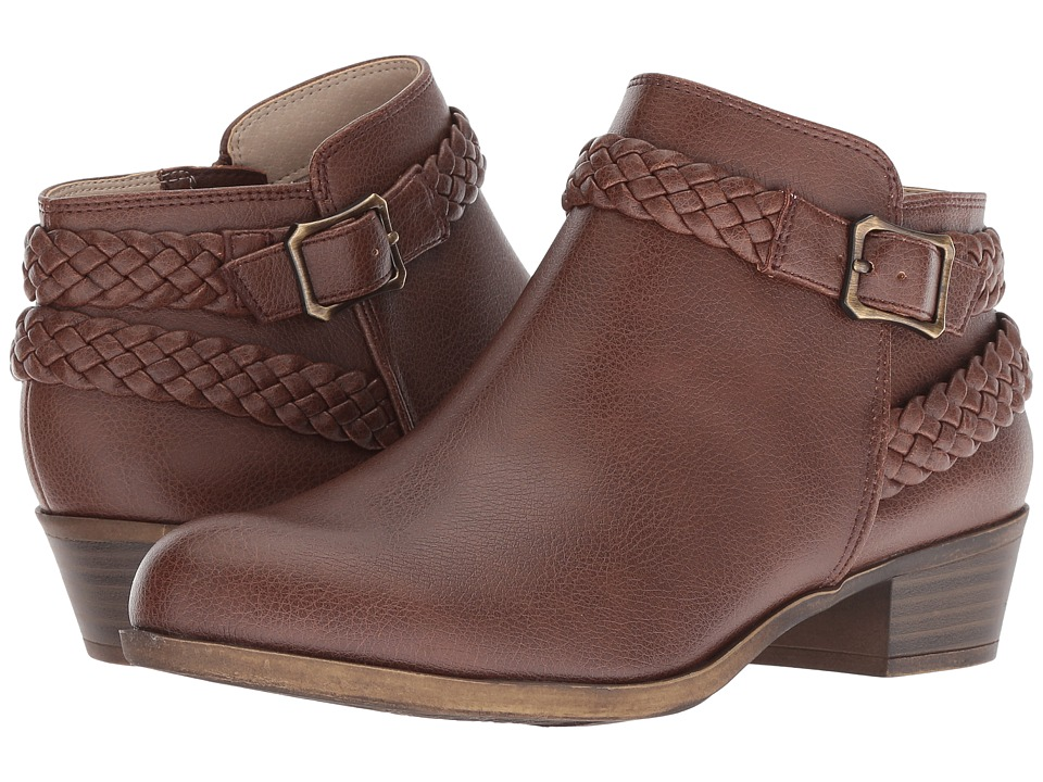 LifeStride Adriana (Dark Tan Smooth) Women's Shoes