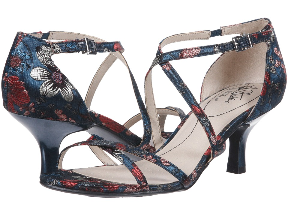 LifeStride Flaunt (Blue Multi) Sandals