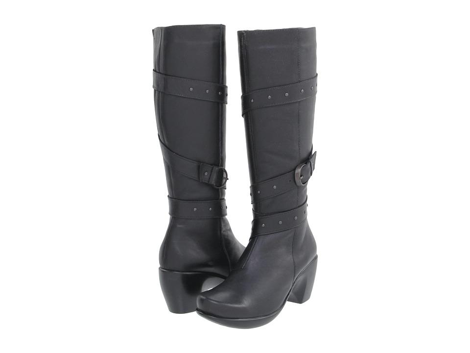 Naot Allure (Jet Black Leather) Women's Dress Zip Boots