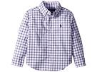 Polo Ralph Lauren Kids Plaid Stretch Poplin Shirt (Toddler)