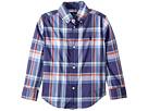 Polo Ralph Lauren Kids Plaid Stretch Cotton Shirt (Toddler)