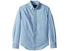 Polo Ralph Lauren Kids Indigo Cotton Chambray Shirt (Big Kids)