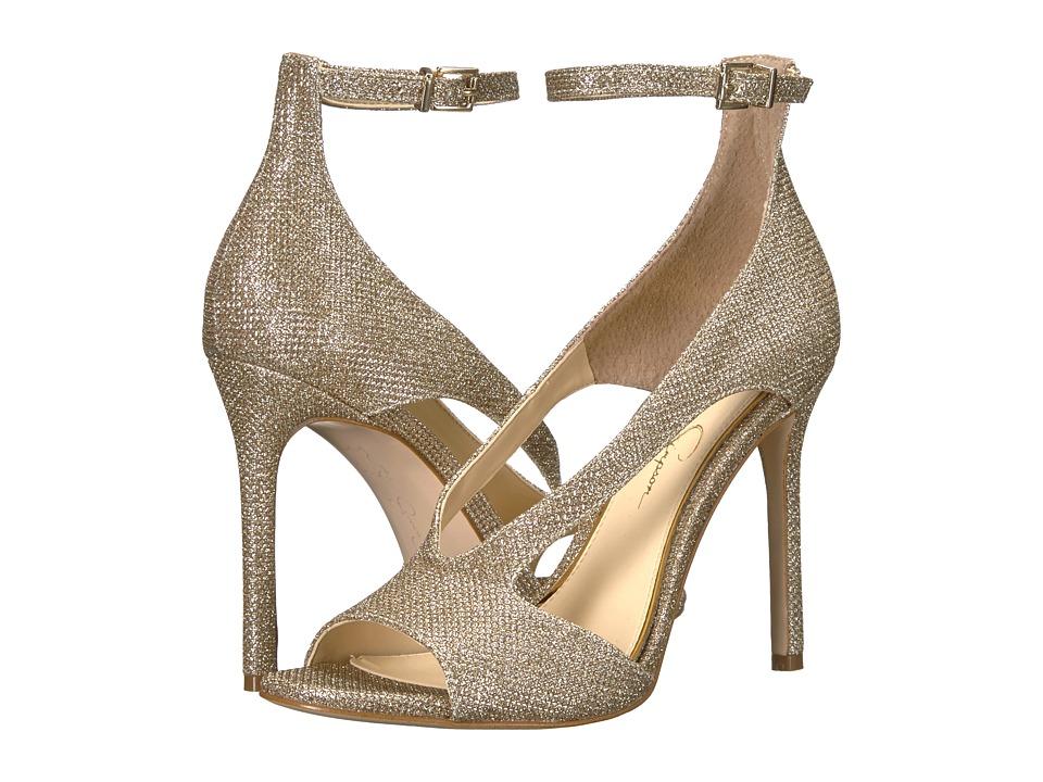 Jessica Simpson Jasta (Gold Jessica Sparkle Mesh) High Heels