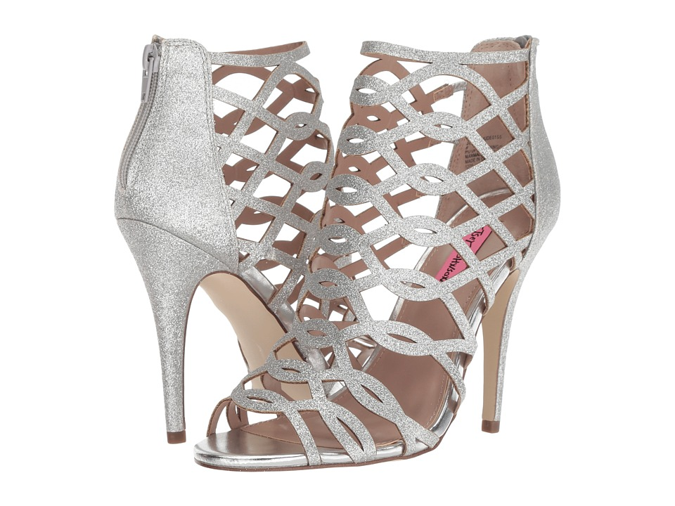 Blue by Betsey Johnson Judeth (Silver) High Heels