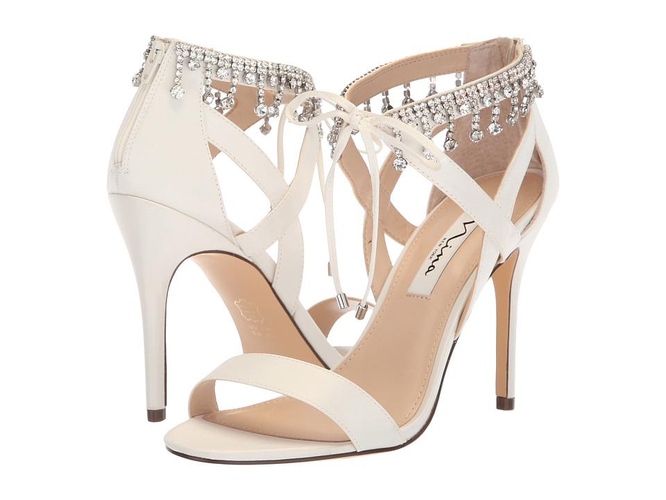 Nina Collina (Ivory Satin) Women's Shoes
