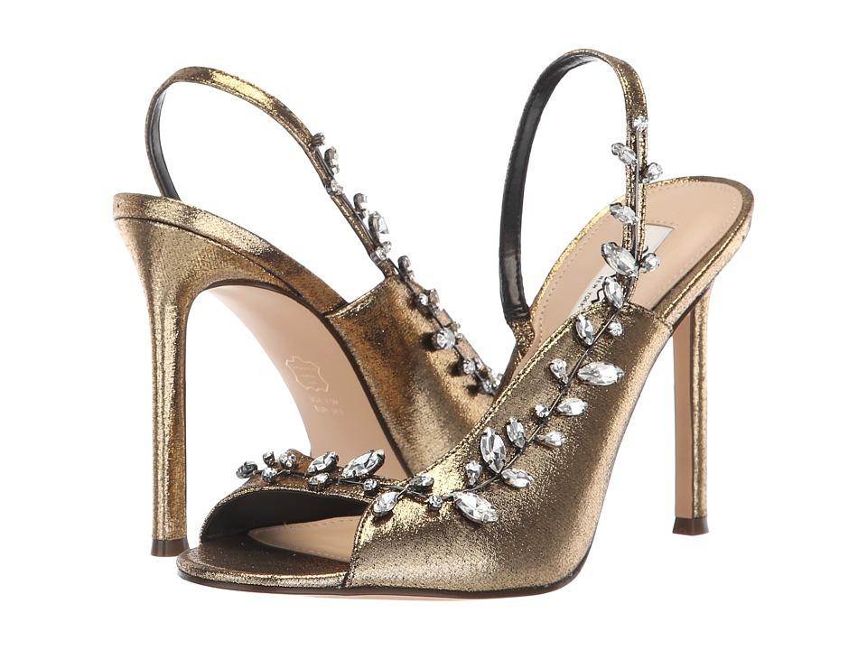 Nina Deanne (Antique Gold Metallic Fabric) High Heels
