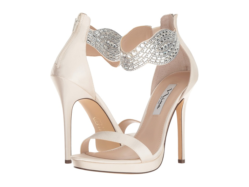 Nina Fayth (Ivory Satin) High Heels