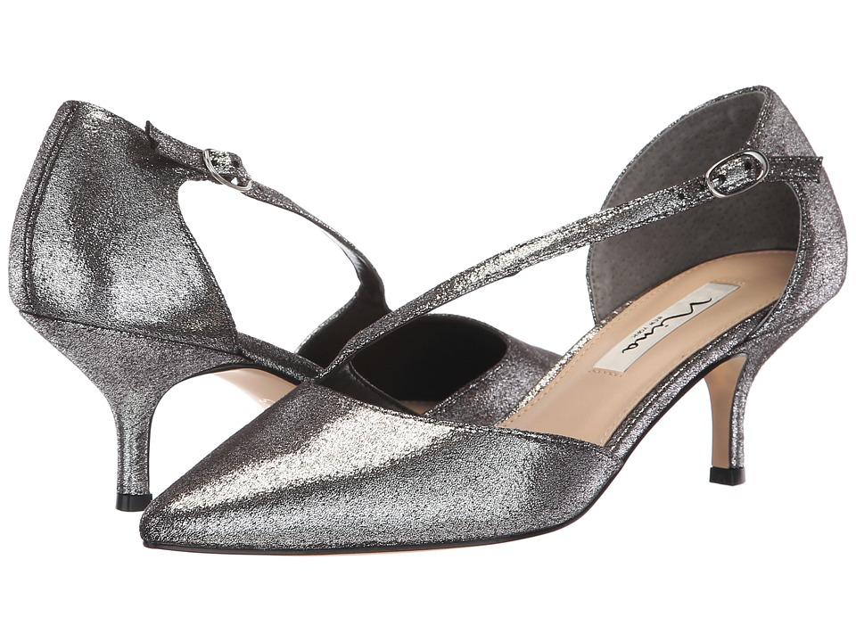 Nina Tirisa (Gunmetal Metallic Fabric) 1-2 inch heel Shoes