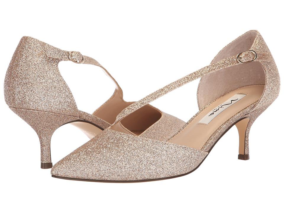 Nina Tirisa (Beige Glitter) 1-2 inch heel Shoes