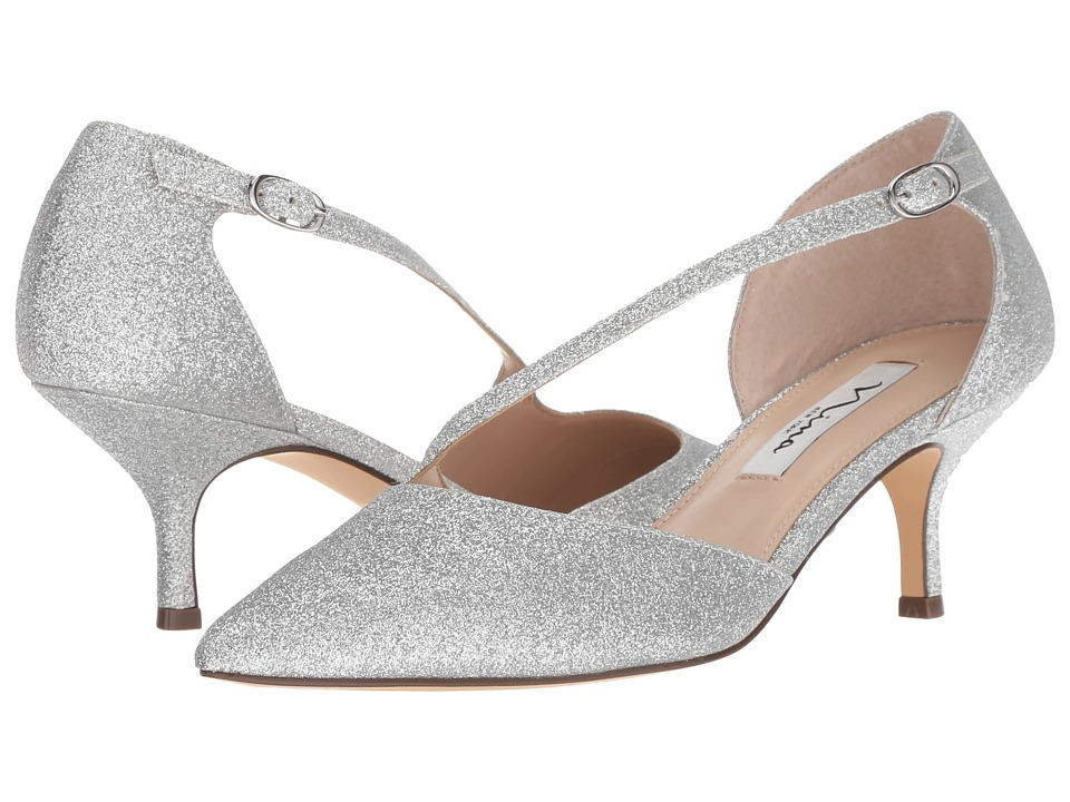 Nina Tirisa (Silver Glitter) 1-2 inch heel Shoes
