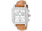 Michele Michele Deco Diamond, Diamond Dial Saddle Strap Watch
