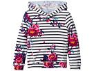 Joules Kids Striped Floral Hooded Sweatshirt (Toddler/Little Kids/Big Kids)