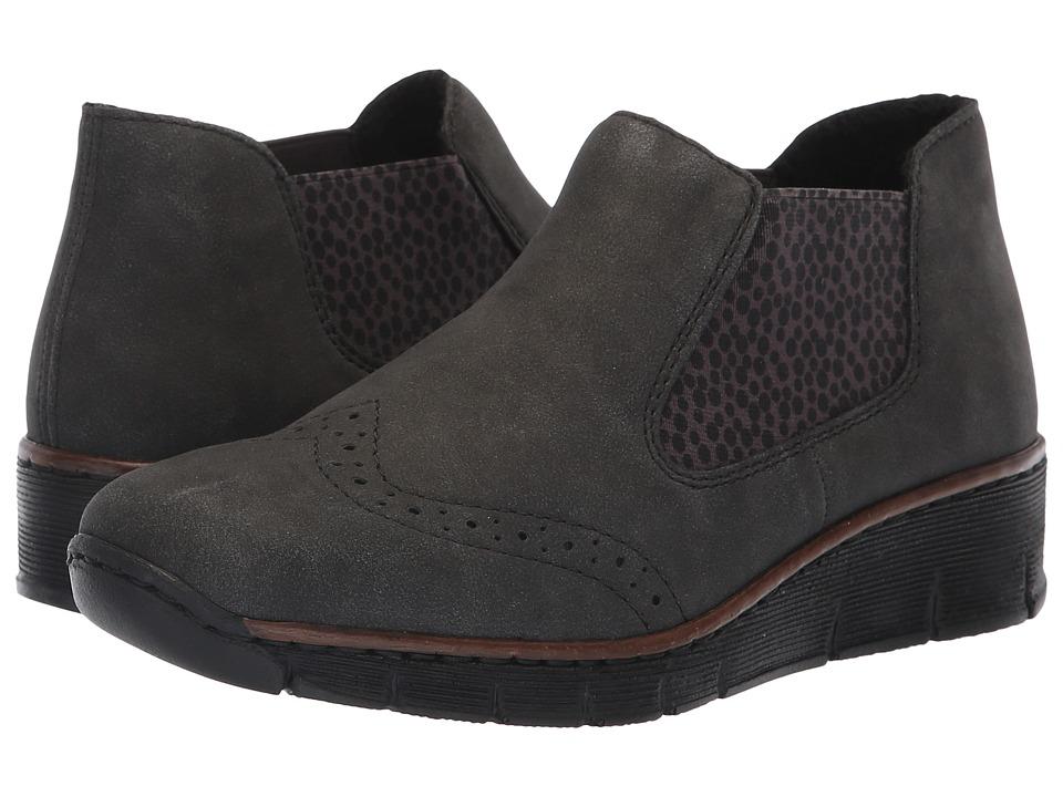 Rieker 537Z3 Doris Z3 (Anthrazit/Grau/Schwarz) Women's Shoes