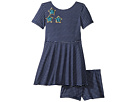 fiveloaves twofish Play Skater Stripe Stars Dress (Toddler/Little Kids)