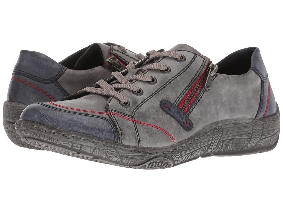 Rieker D3808 Thekla 08 (Jeans/Negro) Women's Shoes