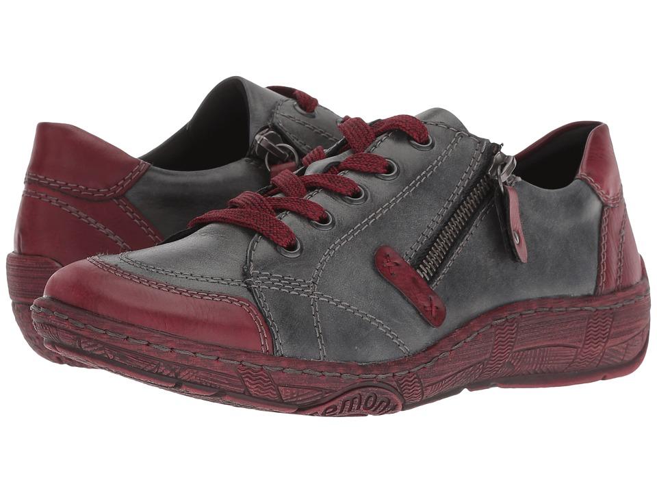 Rieker D3808 Thekla 08 (Burgundy/Black/Pazifik) Women's Shoes