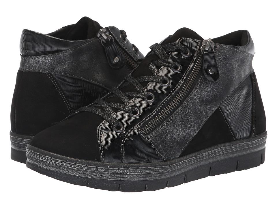 Rieker D5874 Kaja 74 (Schwarz/Black/Graphite) Women's Shoes
