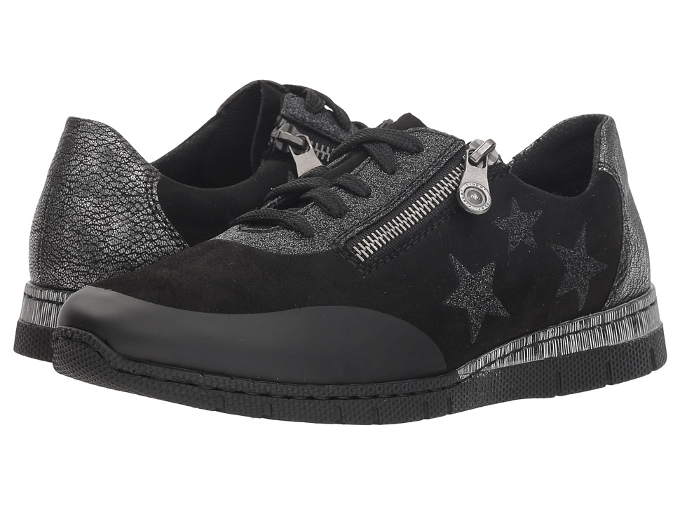 Rieker N5322 Jule 20 (Schwarz/Altsilber) Women's Shoes