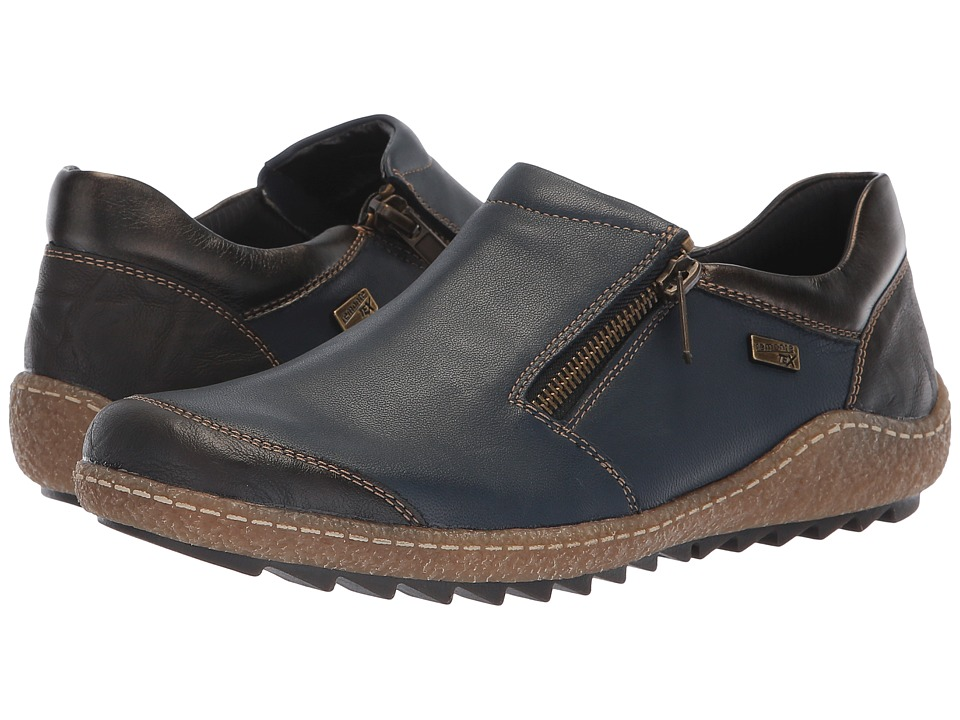 Rieker R4701 Liv 01 (Kakao/Pazifik/Antik) Slip-On Shoes
