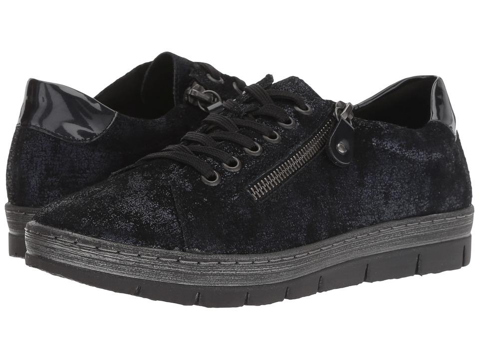 Rieker D5800 Kaja 00 (Pazifik Metallic/Navy) Women's Shoes