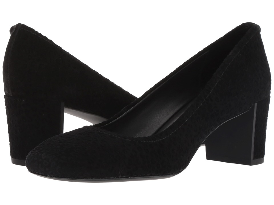 Donald J Pliner Corin (Black Leopard Suede) Women's Shoes