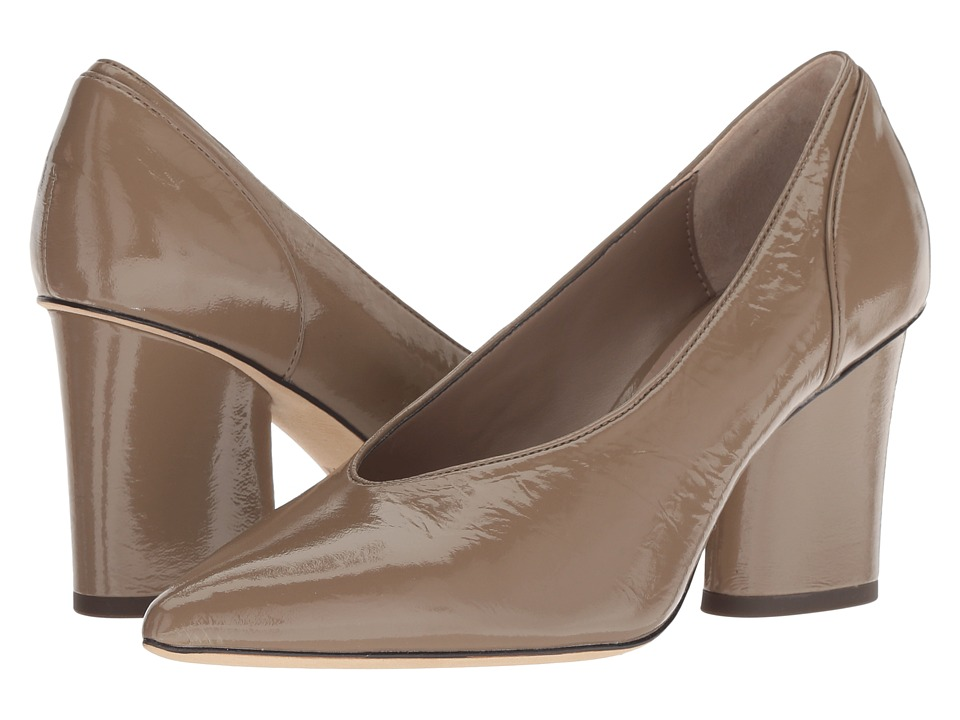 Donald J Pliner Glenn (Dark Taupe Distressed Patent) High Heels