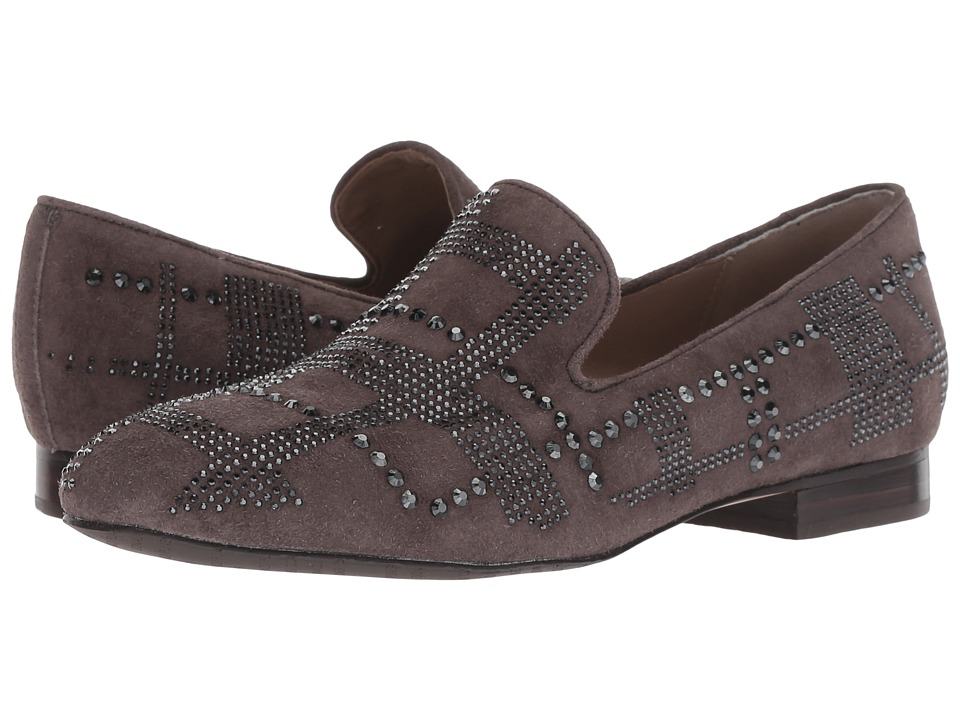 Donald J Pliner Libbisp (Dark Taupe Kid Suede) Slip-On Shoes