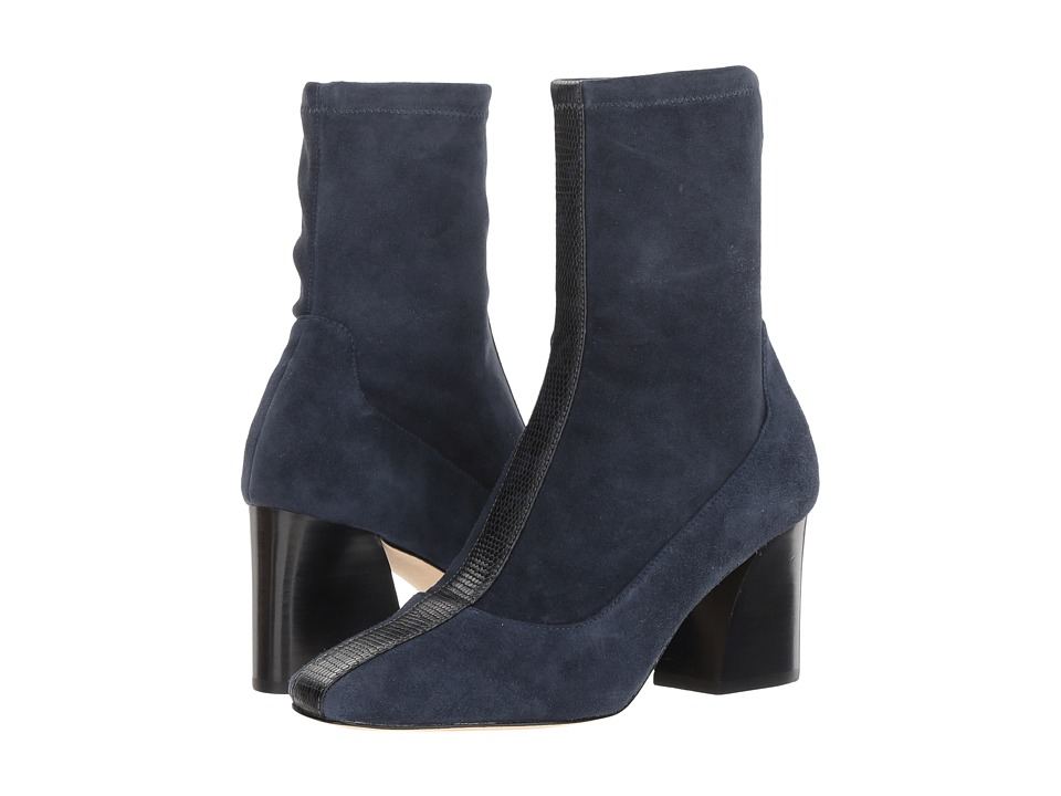 Donald J Pliner Gian (Navy Stretch Suede) Women's Dress Boots