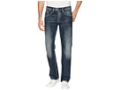 Buffalo David Bitton Six Straight Leg Jeans in Scratched and Sandblasted