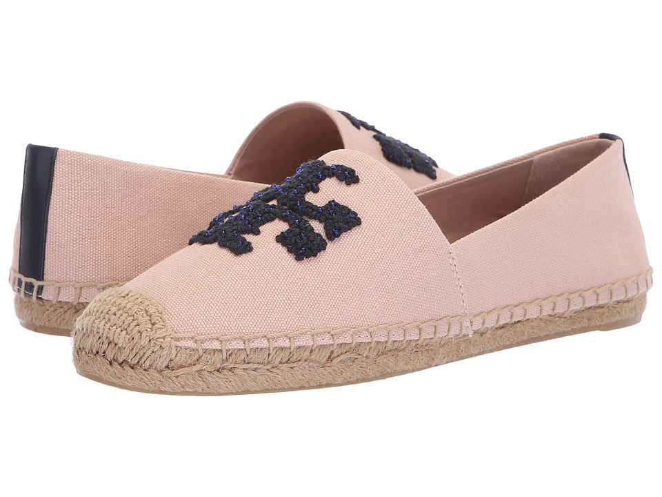 Tory Burch Elisa Logo Flat Espadrille (Sea Shell Pink) Women's Shoes