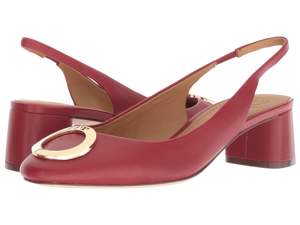 Tory Burch Caterina 45mm Slingback (Dark Redstone) Slingbacks
