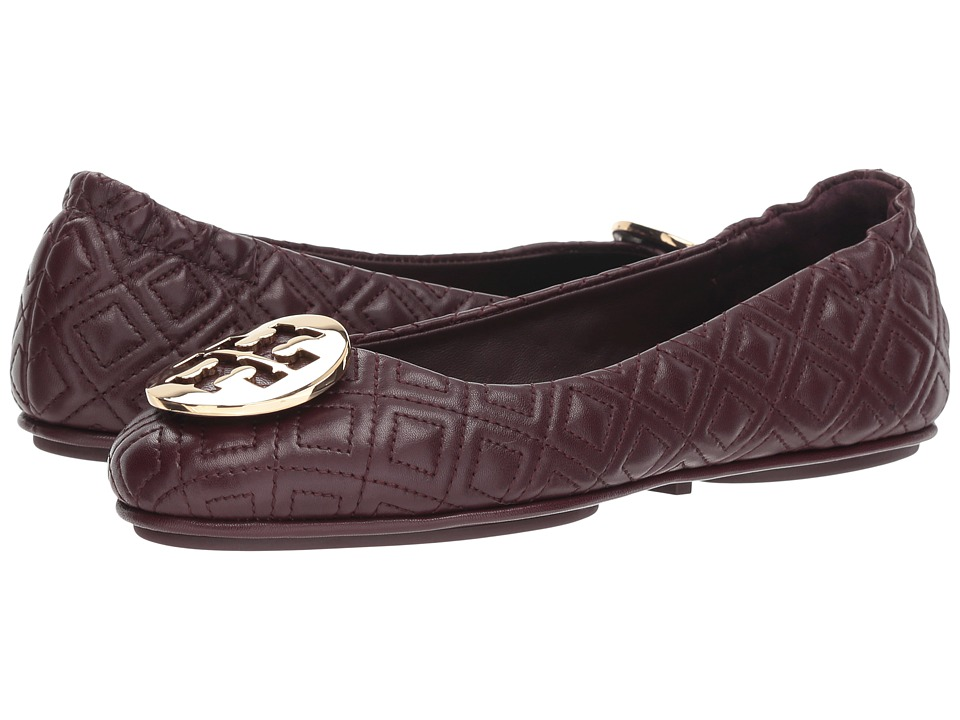 Tory Burch Quilted Minnie (Malbec/Gold) Women's Shoes