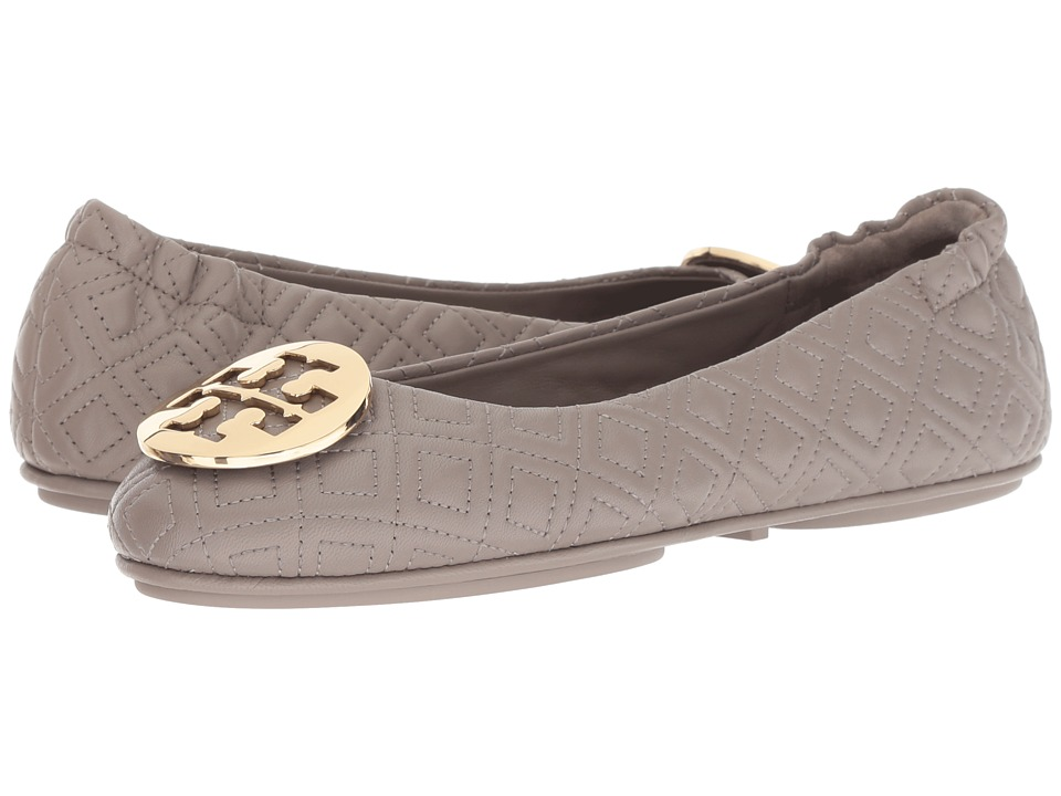 Tory Burch Quilted Minnie (Dust Storm/Gold) Women's Shoes